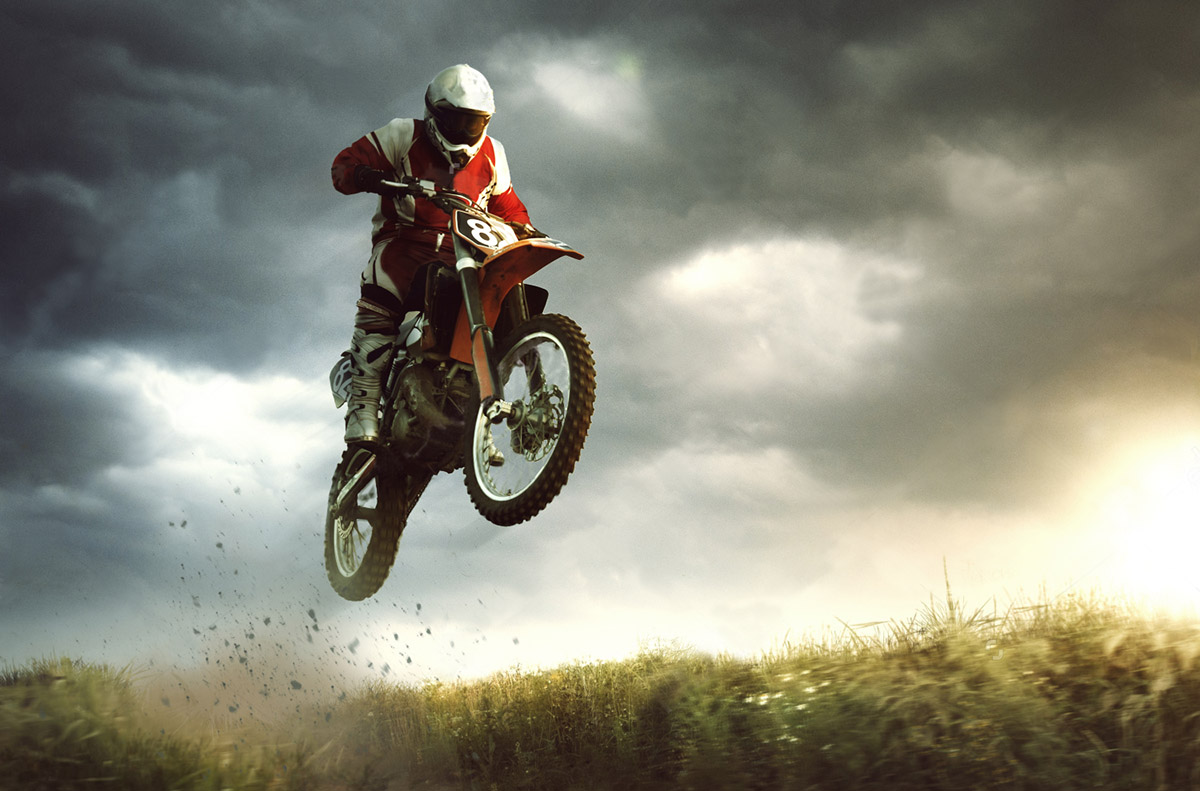 Moto Cross Dirt Bike Jump